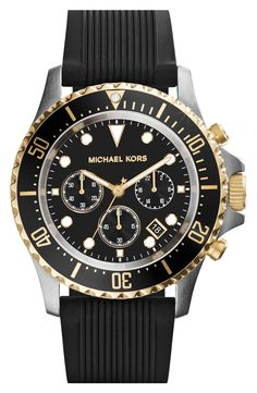 Black and gold always look good together. This Michael Kors watch is perfect for work or play.