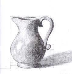 Resultado de imagem para easy still life drawings in pencil – Pencil Drawing Pencil Drawings For Beginners, Pencil Art Drawings, Easy Still Life Drawing, Flower Vase Drawing, Tall Vase Decor, Old Vases, Antique Vases, Rustic Vases, Small Vases