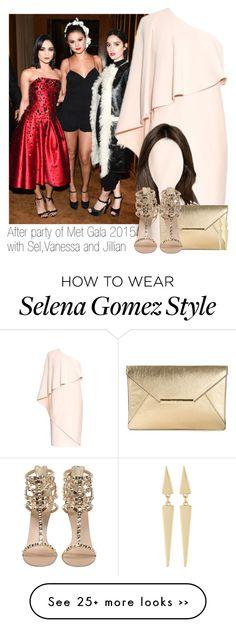 """Met gala 2015 with Vanessa, Selena and Jillian."" by mela-horlik on Polyvore"