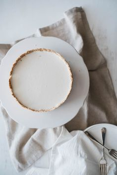 Coconut Custard Tart – By the Sea | Pinned to Nutrition Stripped | Sweet + Dessert #vegan