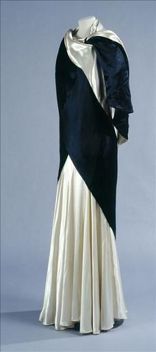 Callot Soeurs, Black & White Evening Dress, 1920s
