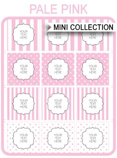 Instantly Download these free Baby Shower Printable Templates in pink stripes & polkadots! Personalize them easily at home using Adobe Reader