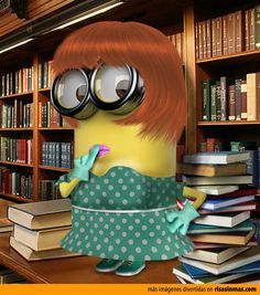 Librarian Minion: Between this one and the Sherlock/Watson Minions, cutest ever.