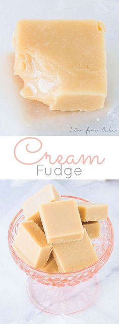 The very BEST cream fudge. Crisp on the outside with a soft and gooey center…