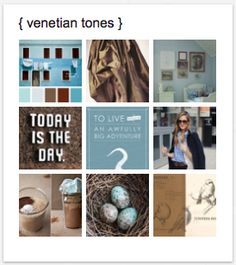 inspiration board on Pinterest was particularly fun to pin.    this palette feels very late summer / early autumn to me for the wardrobe ... but timeless for in the home. cocoa, umber, slate gray, and tones of robin's egg blue create a palette with contrast and a wonderful play of warm and cool.     nature is flawless when looking for inspiration combining these tones.