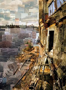 NY artist Chris Soria Chris Soria is a visual artist who works in a varietySoria's and Pepin.Chris Soria is a visual artist who works in a varietySoria's and Pepin. Creative Landscape, Urban Landscape, Abstract Landscape, Minimalist Landscape, Landscape Elements, Impressionist Landscape, Desert Landscape, Landscape Design, Collages