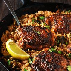 One Pan Spanish Rice & Chicken