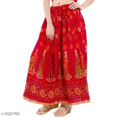 Ethnic Bottomwear - Skirts Stylish Women Skirts  Fabric: Pure Cotton Blend  Waist Size: Up To 28 in To 36 in ( Free Size)  Length: Up To 40 in  Description: It Has 1 Piece Of Women Skirt  Work: Printed Country of Origin: India Sizes Available: Free Size   Catalog Rating: ★3.9 (313)  Catalog Name: Stylish Women Skirts CatalogID_1056115 C74-SC1013 Code: 073-6627768-309