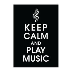 Keep Calm and Play Music 5x7 Poster BLACK featured by KeepCalmShop