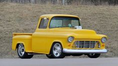 1955 Chevrolet 3100 at auction #2482764 - Hemmings Motor News New Chevrolet Trucks, Chevrolet 3100, Classic Chevrolet, Steel Bed, Yellow Interior, Vintage Air, Air Conditioning System, Classic Trucks, Toys Shop
