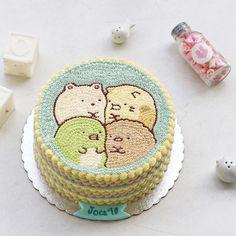 Korea Cake, Cherry Blossom Art, Food Art For Kids, Cute Baking, Kawaii Dessert, Kawaii Stuff, Cute Food, Kids Meals, Cake Decorating
