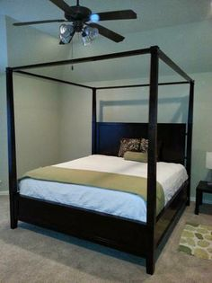 King sized canopy bed - Master bedroom