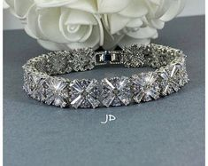 Bridal Jewelry Gifts for Mom Wedding Party by JoaillerieDaisy Jewelry Party, Bridal Jewelry, Jewelry Gifts, Unique Jewelry, Bridal Bracelet, Gifts For Mom, Etsy Seller, Trending Outfits, Diamond