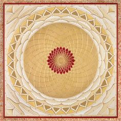 Mandalas.com--The Art of Paul Heussenstamm (Golden Wheel with Red Center)