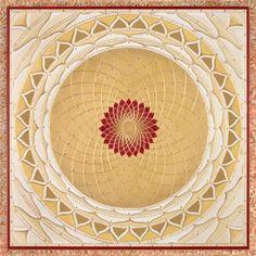 Gold Wheel Red Mandala