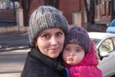 Mom and Daughter Set of Two Beanie Hats  Mommy by HatsByNataBilay