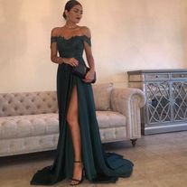 Prom Dresses Boho, Evening Gowns A-Line Hunter Green Chiffon High Split Cutout Side Slit Lace Top Sexy Off Shoulder Hot Formal Party Dress Prom Dresses Shop prom dresses Boho,such as beading prom pieces prom dresses,chiffon prom dress,lace prom dresses Split Prom Dresses, Homecoming Dresses, Bridesmaid Dresses, Pageant Dresses, Satin Dress Prom, Satin Dresses, Prom Dreses, Sexy Lace Dress, Wedding Dresses