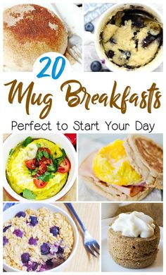 20 Easy Mug Breakfast Recipes! - Mug Recipes - Pancake Recipe Breakfast In A Mug, Microwave Breakfast, Quick And Easy Breakfast, Sweet Breakfast, Microwave Pancakes, Easy Microwave Recipes, Easy Brunch Recipes, Breakfast Recipes, Microwave Meals