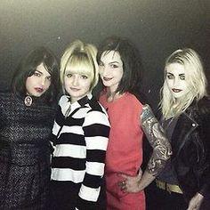 Lindsey med Jessika Addams, Chantal Claret och Frances Bean Cobain
