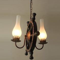 Mediterranean Wooden Rudder Kids Room Pendant Lamp Dining Room Pendant Lamp Bedroom Pendant Lamp