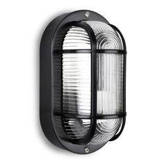 Modern Black Outdoor Garden Security Bulkhead LED Wall Light - IP44 Rated - Supplied With 1 x ES 4w SMD LED Candle Bulb: Amazon.co.uk: Lighting