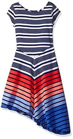 Girls Blue Dress, Diy Dress, Big Kids, Short Sleeves, Short Sleeve Dresses,  Fashion Ideas, Striped Dress, Inspire, Flag, Striped Dress Outfit, Fringe  Dress, ... ff5a61804645