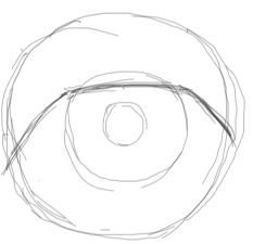 Step 2 : Drawing Realistic Eyes with Simple Steps