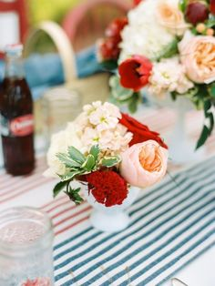 Simply adore these Americana colors and bright buds #cedarwoodweddings Summer Southern Wedding Inspiration at Historic Cedarwood   Cedarwood Weddings