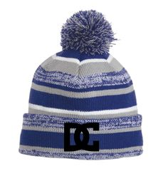 86bf9ebab5940e DC Crushers Pom Sock Hat Winter Hats, Beanie, Socks, Stripes, Brim Hat