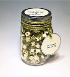 Message Filled Mason Jar Deployment Gift by TheMasonJarInc on Etsy After Christmas, Christmas Delivery, Message Jar, Deployment Gifts, Mason Jar Lids, All Holidays, Love Bugs, Some Times, Special Person