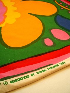 Karuselli fabric designed by Katsuji Wakisaka for Marimekko in 1973. http://www.meyouandmagoo.co.uk/2015/08/vintage-love-karuselli-fabric-designed.html