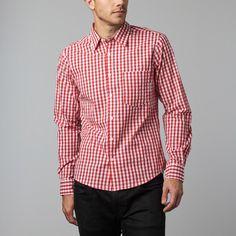 Thomas Gingham Plaid Shirt // Red