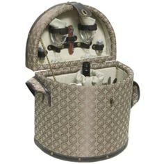The Picnic Parlor - Elegant Wooden Picnic Basket for 2, $154.99 (http://picnicparlor.com/wooden-picnic-basket-1/)
