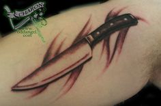 images of chefs tattoos | Culinary Knife Tattoos Chef's knife