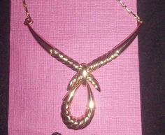 New on card.gold colored 15 inch choker pendant necklace NR  #Unbranded #Choker