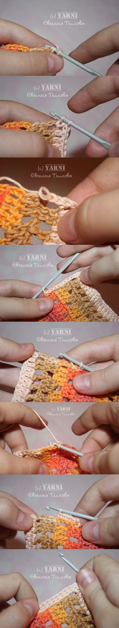 How to have impeccables sides on your crochet work! - make a row of slst then turn sides and just sc all the way!!  ❥ 4U // hf