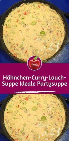 Zutaten 1 kg hähnchenbrust 2 stange/n porree 600 g champignons 2 paprikaschote(n), rot 2 m. -große zwiebel(n) 1 becher sahneschmelzkäse, ca. 200 g 1 becher kräuterschmelzkäse, ca. 200 g soup healthy recipes rezepte soup soup Chili Recipes, Pork Recipes, Baby Food Recipes, Crockpot Recipes, Snack Recipes, Healthy Snacks, Healthy Recipes, Leek Soup, Homemade Baby Foods