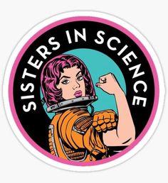 Pegatina Sisters In Science Organisation Logo