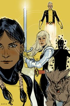 The New Mutants. This was such a great comic during its late-80s/early-90s run. Art by Phil Noto.