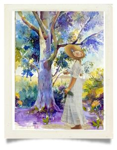 Illustration Food Watercolor art giclée print signed by the artist Food Series Fish on Etsy Tree Watercolor Painting, Watercolor Landscape, Painting & Drawing, Watercolor Water, Watercolor Artists, Watercolor Portraits, Landscape Art, Watercolor Flowers, Pintura Graffiti