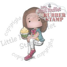 Polka Dot Pals Yang rubber stamp available at Little Miss Muffet Stamps.