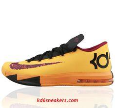 0813f05d7655 NIKE KD VI KD6  Kevin  Durant Orange Basketball shoes  orange