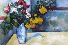 """""""Still Life: Flowers in a Vase"""" by Paul Cezanne"""