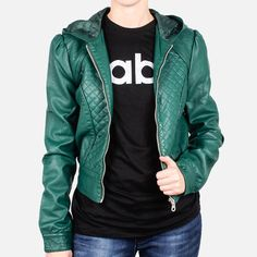Yes please. Quilted Hoodie Jacket Emerald now featured on Fab.
