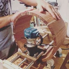 Today's build: Darren milled the inside of this 14x7 Bubinga stave snare with…