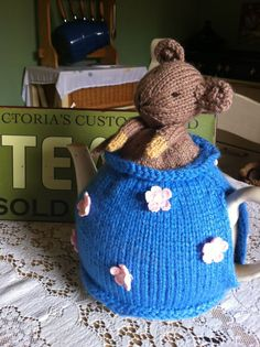 Hand knitted Alice in wonderland dormouse in by YEOLDEVINTAGEATTIC, £12.00