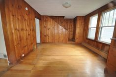 ~ Dining Room and Foyer: Before and After...proof that you shouldn't be afraid to paint wood panelling!