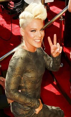 Alicia Moore (aka Pink) Is so inspiring! She is an awesome artist and an awesome person!!!! I love her!!!!!