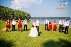 Wedding Photos at The Drummond Center in Greenwood, South Carolina Wedding with dogs