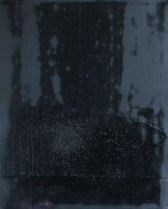 "Koen Lybaert; Oil 2013 Painting ""abstract N° 747 [Coal dust VII]"""